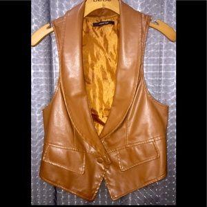 Leather BOHO vest